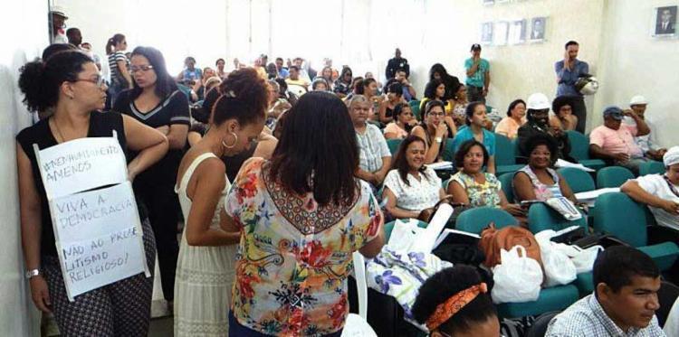 Professores estão na Câmara desde segunda-feira - Foto: Rafael Lopes | APLB Feira
