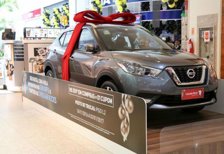 Com decoração dos Smurfs Salvador Norte sorteia 2 Nissan Kicks - Foto: Divulgação / Shopping Salvador Norte
