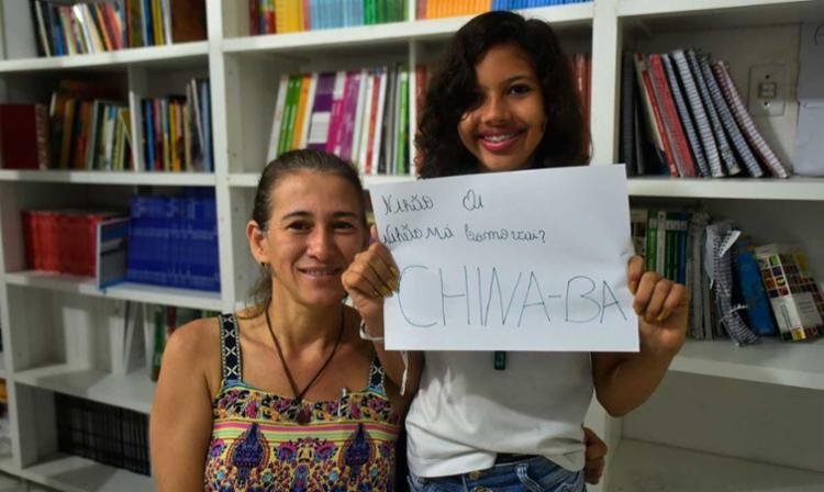 A professora Simone Bocaiuva e Rayssa - Foto: Ascom | Claudionor Junior