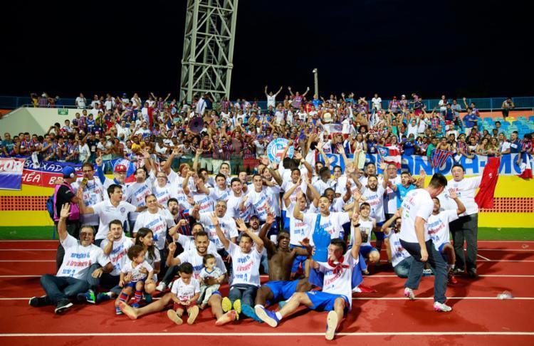 O Bahia conseguiu o acesso no dia 26 de novembro - Foto: Felipe Oliveira   EC Bahia