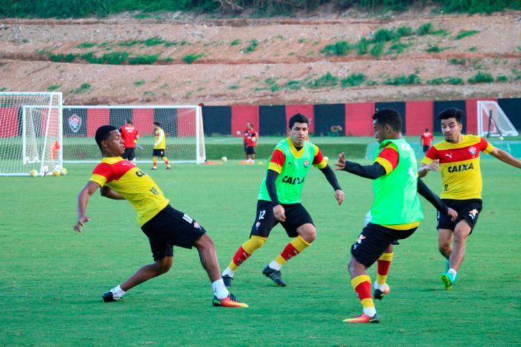 O time treinou forte nesta quarta-feira - Foto: Francisco Galvão | EC Vitória