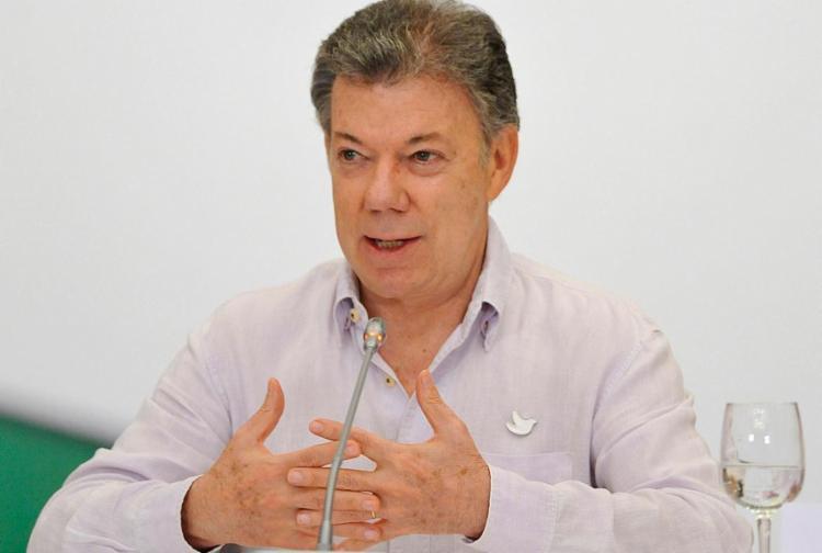 Santos ganhará o prêmio pelos seus esforços para pacificar a Colômbia - Foto: Guillermo Legaria | AFP