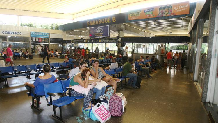 No Terminal Rodoviário de Salvador, o movimento foi tranquilo nesta quinta-feira, 8 - Foto: Luciano da Matta l Ag. A TARDE