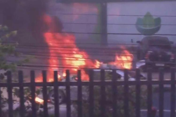 O incêndio começou por volta das 15h10 - Foto: Reprodução   YouTube