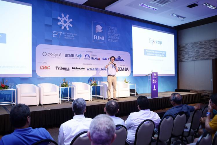 Eduardo Zylkberstajn participou nesta sexta-feira, 9, da 27ª convenção anual da Ademi-BA - Foto: Sérgio Figueiredo l Divulgação