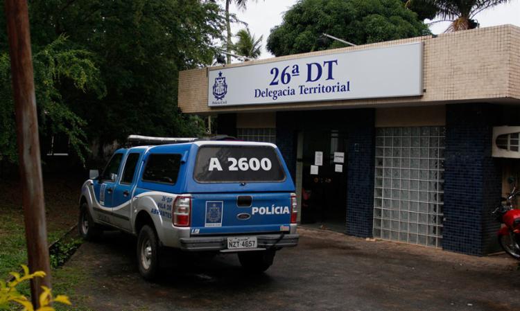 Valcélio está custodiado na carceragem da 26ª DT à disposição da Justiça - Foto: Joá Souza | Ag. A TARDE