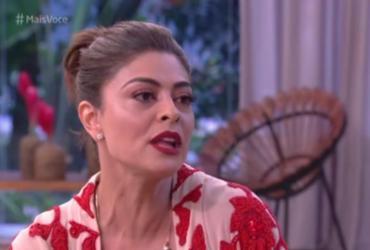 Juliana Paes se emociona com homenagem no 'Mais Você'