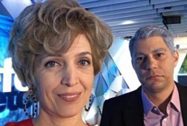 Poliana Abritta e Evaristo Costa 'envelhecem' para apresentar o 'Fantástico'