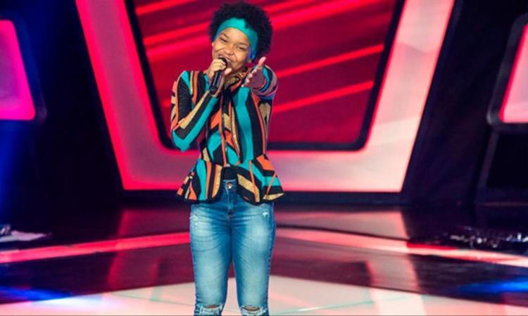 Franciele foi alvo de ofensa racista quando se apresentou no The Voice Kids - Foto: Reprodução