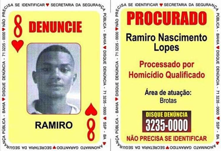Ramiro é suspeito de cometer o assassinato de Juraci Edvan Gomes Fonseca - Foto: Divulgação | SSP