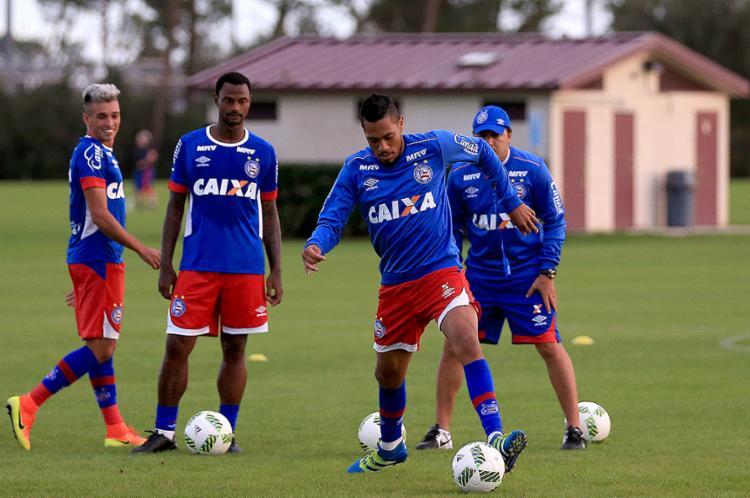 Elenco do Tricolor fez o último treino antes do jogo desta quinta-feira, 12 - Foto: Felipe Oliveira l EC Bahia