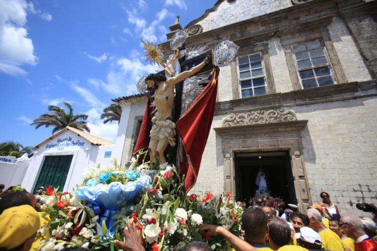 Tradicional celebração em homenagem a Bom Jesus dos Navegantes marca 1º dia do ano - Foto: Joá Souza   Ag. A TARDE