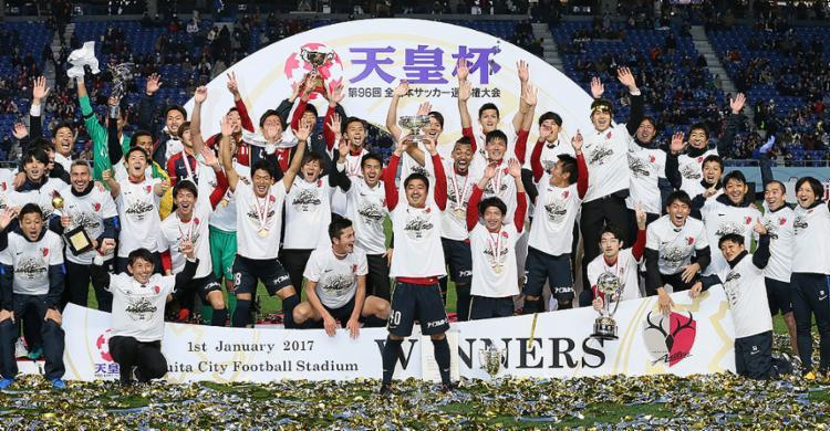 Jogadores do Kashima Antlers comemoram título - Foto: Jiji Press l AFP