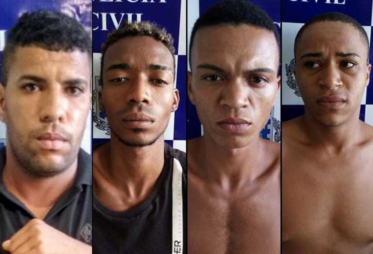 Rodrigo, Erick, Gival e Ricardo - Foto: Ascom | Polícia Civil