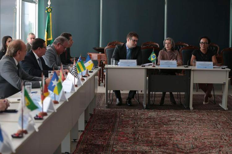 A presidente do STF se reuniu com presidentes de 27 Tjs do país para buscar soluções para a crise no sistema prisional - Foto: José Cruz l Agência Brasil