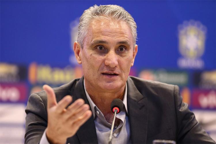 O técnico Tite anunciará no dia 19 de janeiro a lista com 23 convocados para o amistoso - Foto: Lucas Figueiredo l CBF