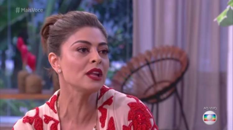 No programa, Juliana recebeu homenagens de alguns atores em vídeo - Foto: Reprodução | TV Globo