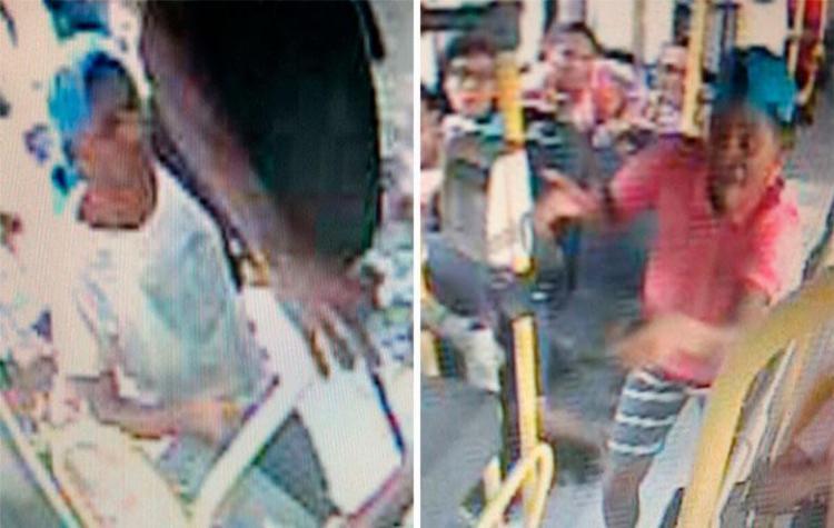 Câmeras do ônibus filmaram suspeitos de crime - Foto: Divulgação | PM