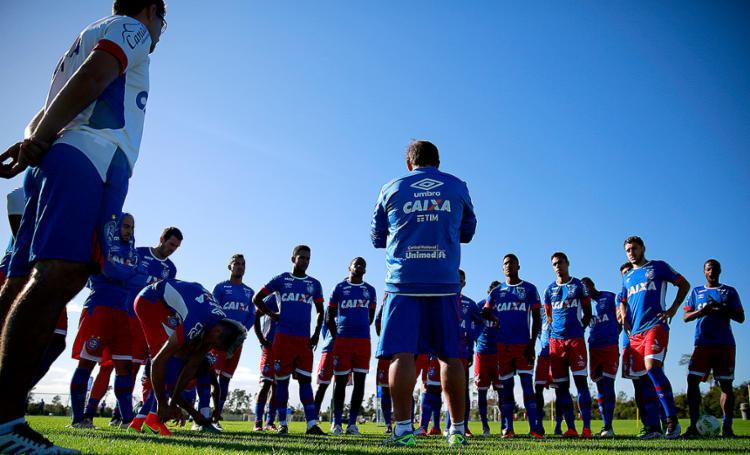 Tricolor vai usar time mais experiente na Copa do Nordeste e dará espaço para os garotos no Baianão - Foto: Felipe Oliveira l EC Bahia l Divulgação