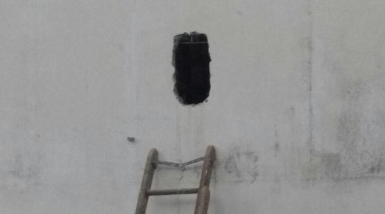 Buraco feito pelos detentos no modulo 5 da penitenciária - Foto: Divulgação   Sinspeb