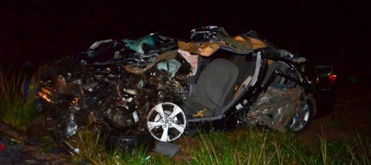 A colisão envolveu um Toyota Corolla e uma caminhonete Toyota Bandeirante - Foto: Reprodução | Weslei Santos | Blog do Sigi Vilares