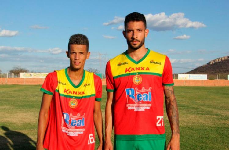 Lucas (E) e Rodrigo Rodrigues (D) são os novos contratados do Cancão - Foto: Look- Assessoria de Comunicação | Juazeirense