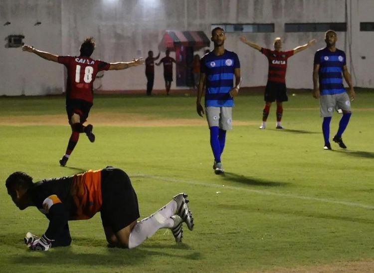 Euller (18) marcou o gol da virada rubro-negra no Barradão - Foto: R. Santin l EC Vitória l Divulgação