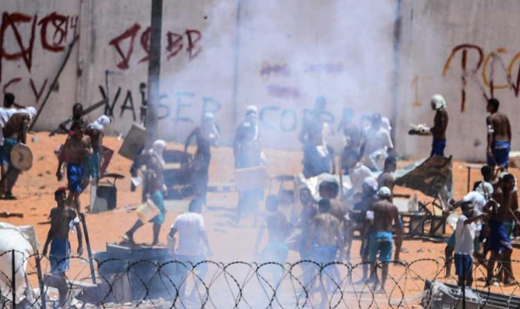 Detentos de Alcaçuz, em Natal, voltaram a entrar em confronto - Foto: Andressa Anholete   AFP
