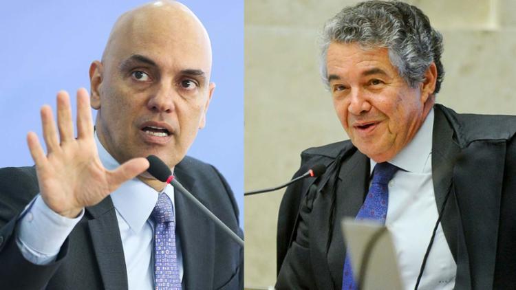 Marco Aurélio sugeriu o nome de Alexandre de Moraes - Foto: Agência Senado e Agência Brasil
