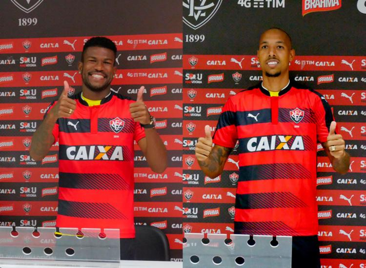 Géferson (E) e Alan Costa (D) vieram transferidos do Internacional - Foto: R. Santin   EC Vitória