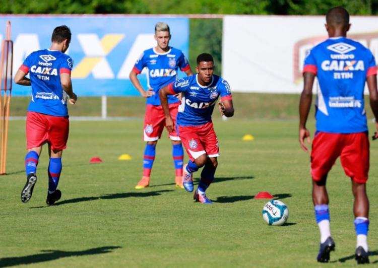 O time treinou forte no CT do Fazendão nesta sexta-feira, 20 - Foto: Felipe Oliveira | EC Bahia