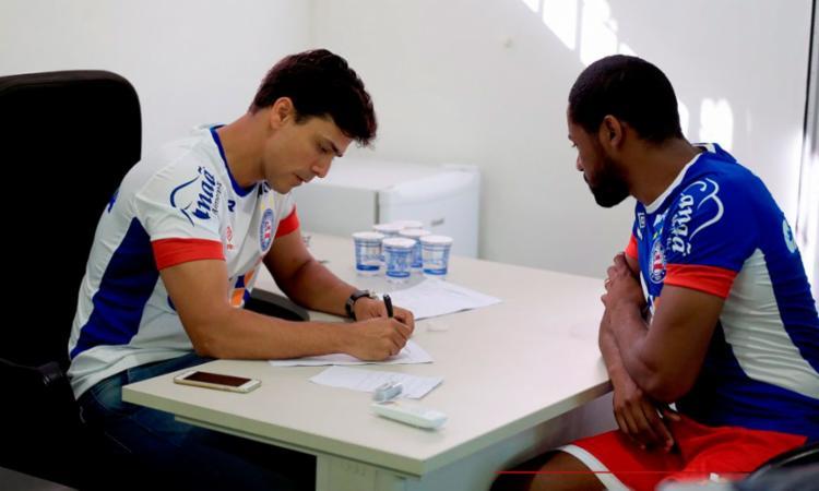 O dia do Esquadrão foi de exames médicos - Foto: Felipe Oliveira | EC Bahia