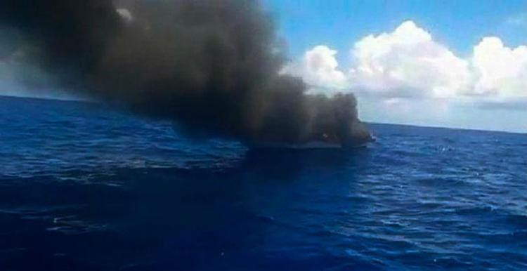 Os três tripulantes foram resgatados - Foto: Cidadão Repórter | Whatsapp