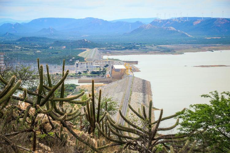 Registro da barragem em janeiro de 2016 - Foto: Regina Lima | Ascom CBHSF | 19.01.2016
