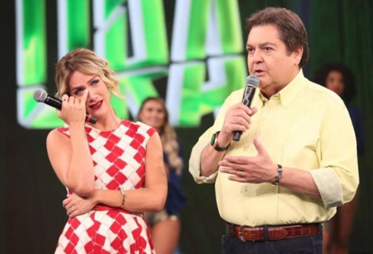 Atriz contou que conheceu a filha em uma viagem a convite de Fausto Silva e agradeceu o apresentador - Foto: Reprodução   TV Globo
