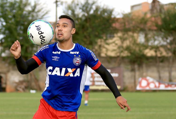 O jogador foi um dos destaques do Bahia na última Série B - Foto: Felipe Oliveira | EC Bahia