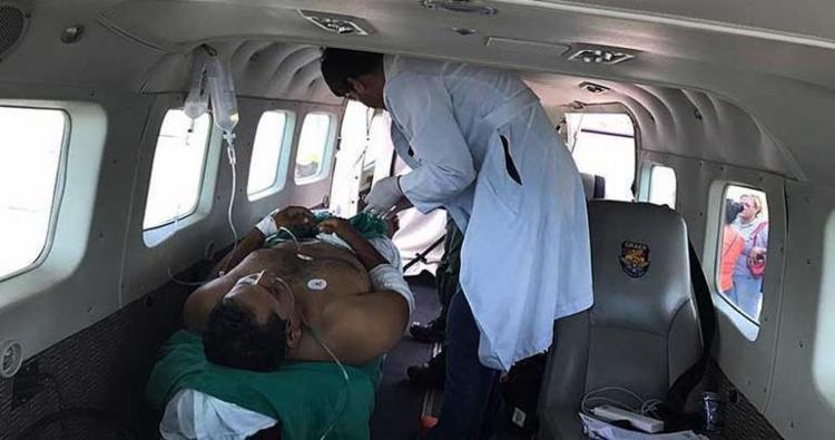 PM foi removido no avião Gran Caravan de Bom Jesus da Lapa para Salvador - Foto: DCS | Polícia Militar