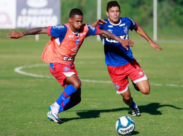 O elenco Tricolor treinou forte nesta segunda-feira, 23 - Foto: Felipe Oliveira   EC Bahia