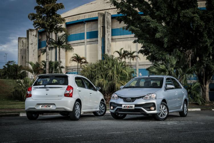 Linha Etios 2018 tem novo design externo - Foto: Divulgação Toyota