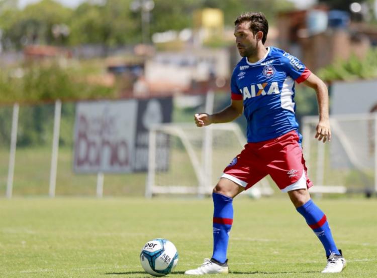 O time treinou forte na manhã desta quarta - Foto: Felipe Oliveira | EC Bahia