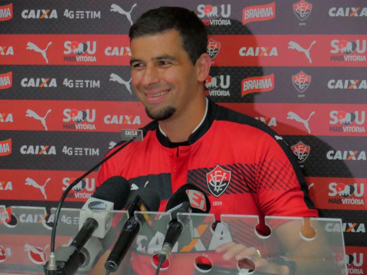 André Lima se disse pronto para estrear nesta quinta - Foto: R. Santin | EC Vitória