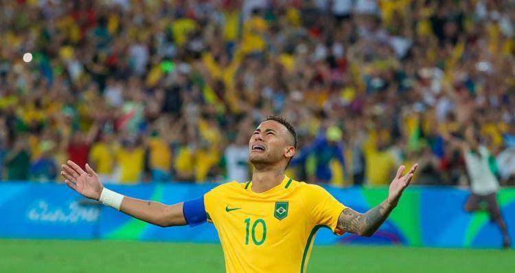 Neymar liderou a seleção no inédito ouro olímpico no futebol masculino - Foto: Ricardo Stuckert   CBF