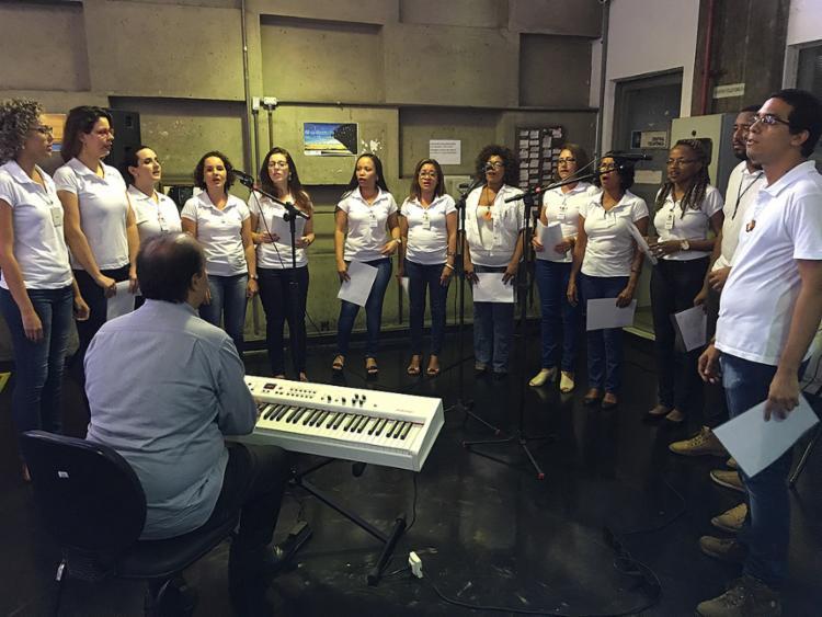 Coral fez apresentação na sede da Codeba nesta sexta-feira, 27 - Foto: Ascom Codeba l Divulgação