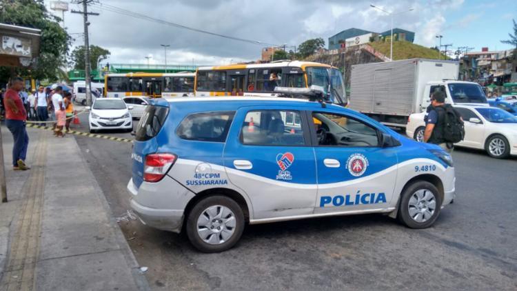 Ação ocorreu no ponto de ônibus da Brasilgás - Foto: Edilson Lima | Ag. A TARDE