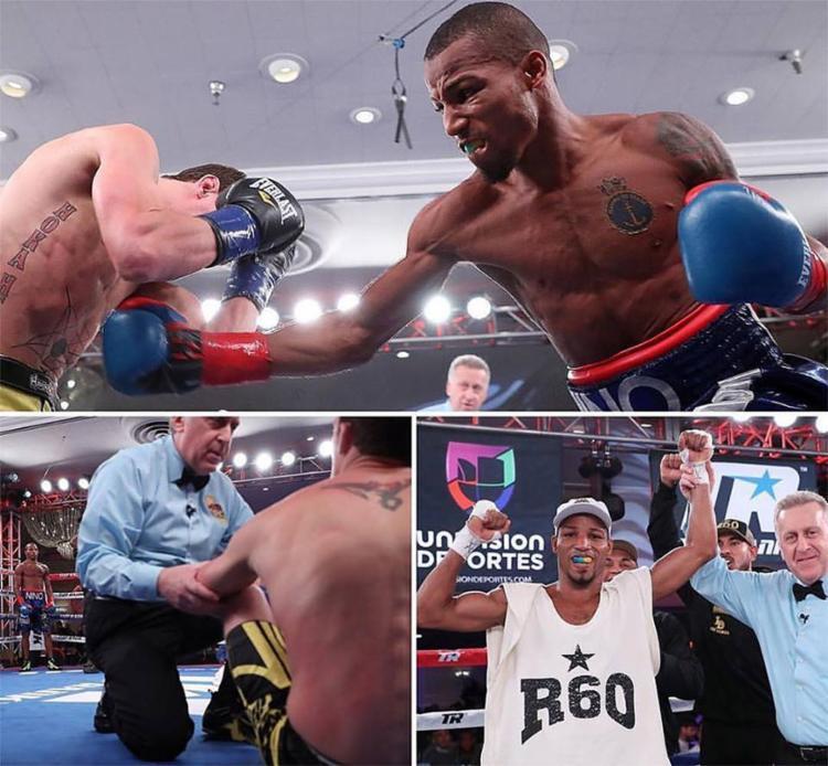 Pugilista baiano ganhou com extrema facilidade, com um nocaute no segundo round - Foto: Reprodução l Facebook