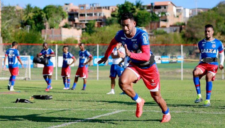 Elenco Tricolor treinou forte nesta segunda-feira, 30 - Foto: Felipe Oliveira | EC Bahia
