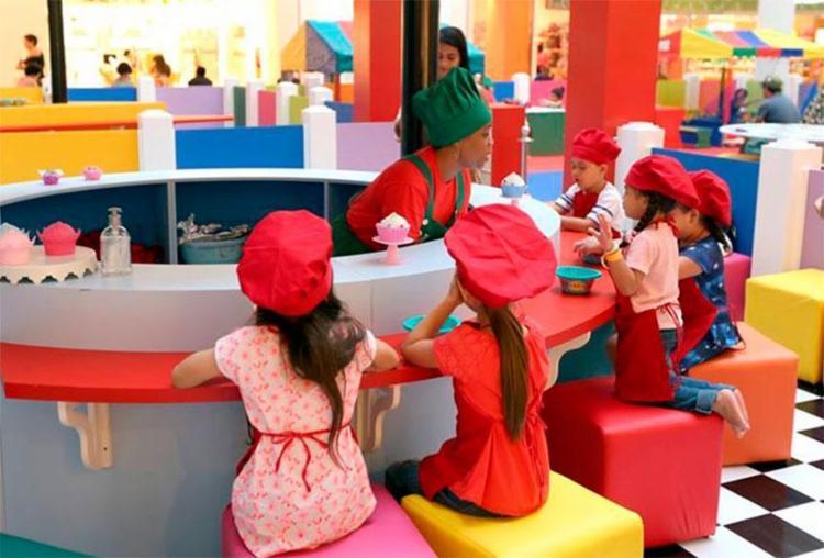 Garotada pode decorar cupcake ou rechear pizza - Foto: Divulgação