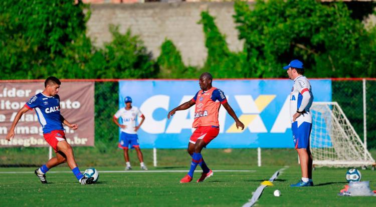 Elenco Tricolor finalizou a preparação para o duelo desta quarta-feira, 1º - Foto: Felipe Oliveira | EC Bahia
