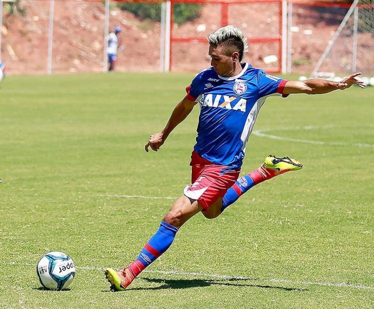 Juninho tratou lesão no tornozelo durante as férias e voltou bem para 2017 - Foto: Felipe Oliveira l EC Bahia