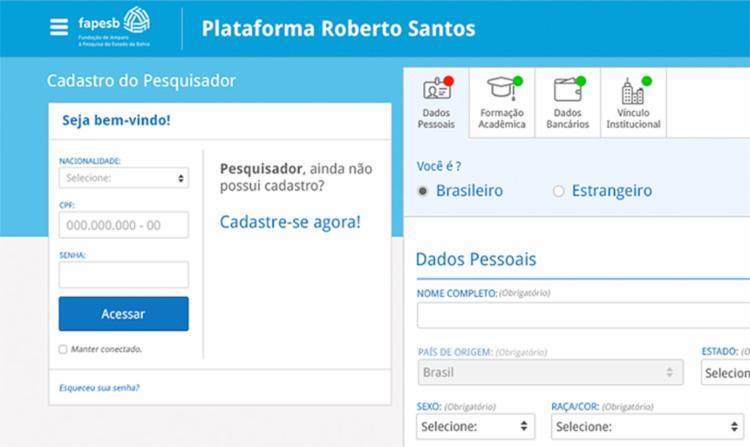 A nova interface já está disponível no site da Fundação - Foto: Divulgação l Ascom-Fapesb
